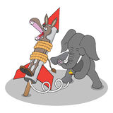 Rocket Donkey Royalty Free Stock Photos