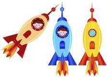 Rocket e menino Foto de Stock Royalty Free