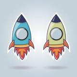 Rocket-Elemente für Website Lizenzfreie Stockfotografie