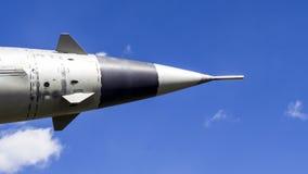 Rocket en el cielo imágenes de archivo libres de regalías