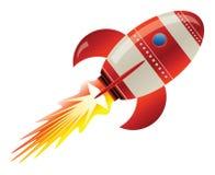 Rocket en espacio ilustración del vector