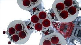 Rocket Engine Langsame Bewegung stock video