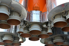 The rocket engine. Space rocket, Space rocket engine Stock Photo