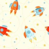 Rocket envía inconsútil ilustración del vector