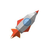 Rocket with fire related icon. Illustration image Stock Image