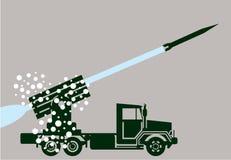 Rocket Fire Truck Stock Photo