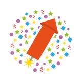 Rocket firework icon. Vector illustration design royalty free illustration