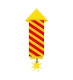 Rocket firework isolated icon. Vector illustration design Stock Photo