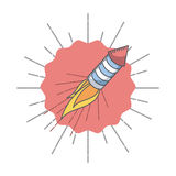 Rocket fireworks icon. Over white background. colorful design. vector illustration Royalty Free Stock Photos