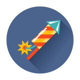 Rocket fireworks icon. Vector isolated trendy illustration Royalty Free Stock Images