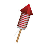 Rocket fireworks lights with stripes Royalty Free Stock Images