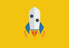 Rocket Flame - Flat design Stock Photos