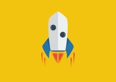 Rocket Flame - Vlak ontwerp Stock Foto's