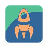Rocket Flat Icon Image libre de droits