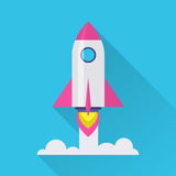 Rocket Flat Icon Fotografie Stock
