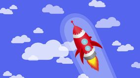 Rocket-Fliegen im Himmel stock video