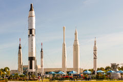 Rocket Garden em Kennedy Space Center Fotografia de Stock Royalty Free