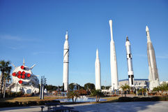 Rocket Garden in Kennedy Space Center Stock Photography