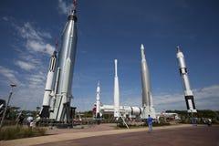 Rocket Garden. The Rocket Garden at Kennedy Space Center Visitors Complex in Florida Stock Image