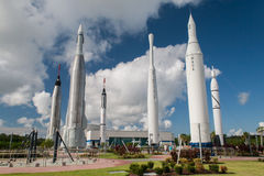 Rocket Garden Kennedy Space Centre image stock