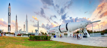 Rocket-Garten am Kennedy Space Center stockfoto