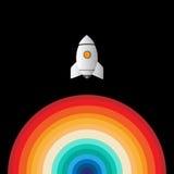 Rocket-Geschäft beginnen oben Lizenzfreie Stockbilder