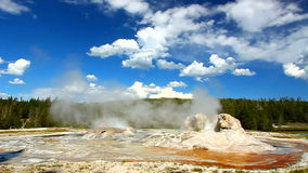 Rocket Geyser and Grott Geyser Stock Images