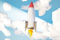 Rocket going up startup Stock Photo