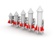 Rocket graph Stock Image