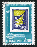 Rocket. HUNGARY - CIRCA 1963: stamp printed by Hungary, shows rocket, circa 1963 Royalty Free Stock Images