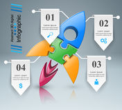 Rocket icon. Abstract  illustration Infographic. Royalty Free Stock Images