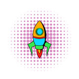 Rocket icon in comics style Stock Photo