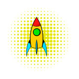 Rocket icon, comics style Royalty Free Stock Photos
