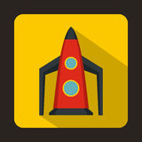 Rocket icon, flat style. Rocket icon in flat style for any design Stock Image