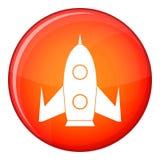 Rocket icon, flat style Royalty Free Stock Photo