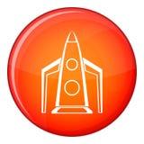 Rocket icon, flat style Royalty Free Stock Photography