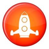 Rocket icon, flat style Stock Image