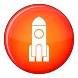 Rocket icon, flat style Stock Images