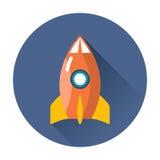 Rocket icon royalty free illustration