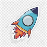 Rocket icon  illustration. Object to website or infographics. Rocket icon  illustration. Object to site or infographics Royalty Free Stock Photography