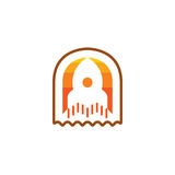 Rocket Icon isolou-se no fundo branco Conceito novo do projeto para o logotipo ilustração royalty free