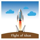 Rocket icon. For printing in the identification literature royalty free illustration