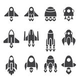 Rocket icon set Royalty Free Stock Image
