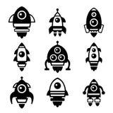 Rocket Icon Set Stock Images