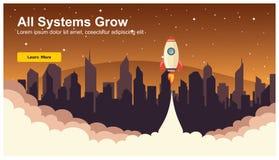 Rocket Icon simple, vecteur plat de web design sensible, technologie de web design, y compris l'ordinateur portable, le bureau, l illustration de vecteur