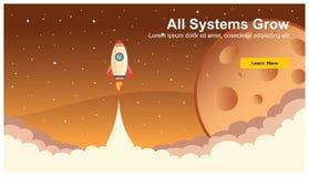 Rocket Icon simple, vecteur plat de web design sensible, technologie de web design, y compris l'ordinateur portable, le bureau, l illustration libre de droits