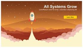 Rocket Icon simple, vecteur plat de web design sensible, technologie de web design, y compris l'ordinateur portable, le bureau, l illustration stock