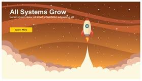 Rocket Icon simple, vector plano del diseño web responsivo, tecnología de diseño web, incluyendo el ordenador portátil, la mesa,  stock de ilustración