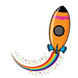 Rocket-002 Royalty Free Stock Photo