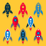 Rocket icons collection Stock Images